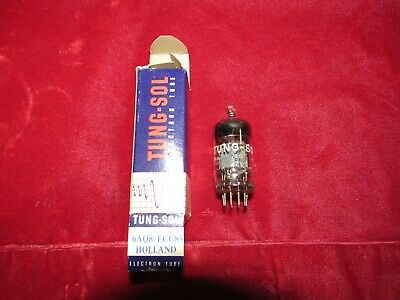 Vintage Single Tung Sol 6Aq8 Ecc85 Hickok Vacuum Tubes Tests Nos In Boxes