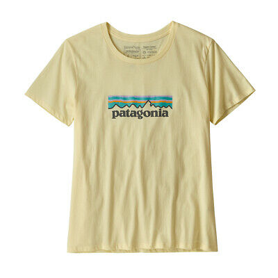 Patagonia Womens Pastel P-6 Logo Organic Crew T-Shirt Resin Yellow