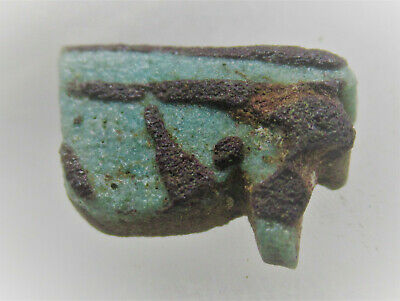 Circa 664-332Bc Ancient Egyptian Glazed Faience Eye Of Horus Amulet