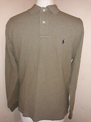 Polo By Ralph Lauren  Men's Size L Olive Green Long Sleeved Polo Shirt