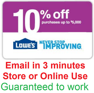 One 1x Lowes 10% Off InStore and Online1Coupon-Fast Delivery---
