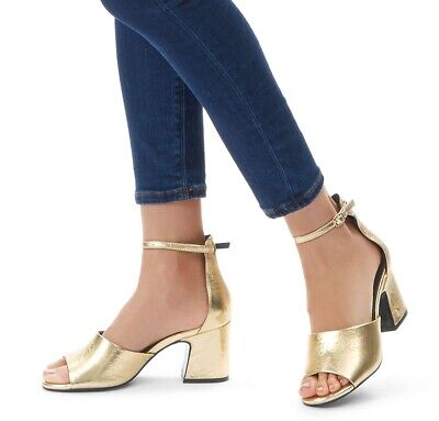 179be8d3471 LADIES LONDON REBEL Barely There Glittery Barely There Sandals Size ...