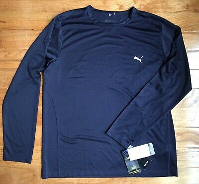 PUMA Men's Sport Lifestyle Athletic Workout Long Sleeve Shirt Size XL