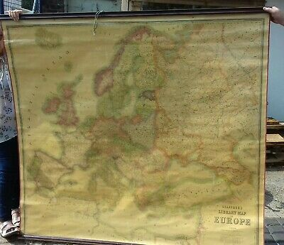 Early Stanfords Scroll Map Of Europe 170 X 158 Cms. Ready To Hang And Be Admired