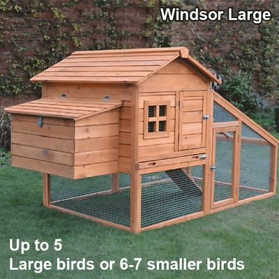 Chicken Coop & Run Hen House Poultry Ark Home Nest Box Coup Coops Rabbit Hutch