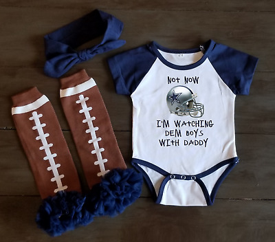 best sneakers 8f084 65e65 DALLAS COWBOYS JERSEY Baby Shirt Bodysuit Pink Love Watching ...