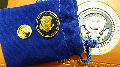 Presidential Lapel Pin President Donald Trump Blue Cobalt 24 K Gold-Plated