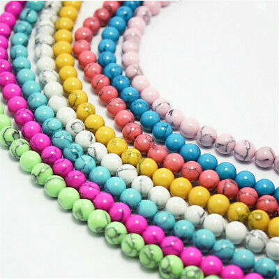 4-8mm Natural Color Turquoise Loose Beads Diy Accessories Craft Shining Gemstone