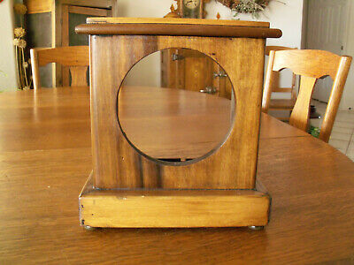 Vintage Wooden Clock Case Wall Clock 26x11 For Parts