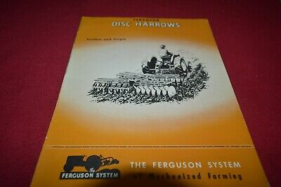 Ferguson Tractor Disc Harrow Dealer's Brochure AMIL15