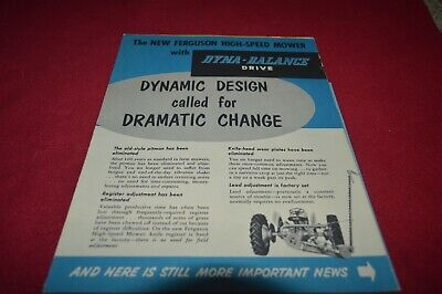 Ferguson Tractor High Speed Mower Dealer's Brochure AMIL15
