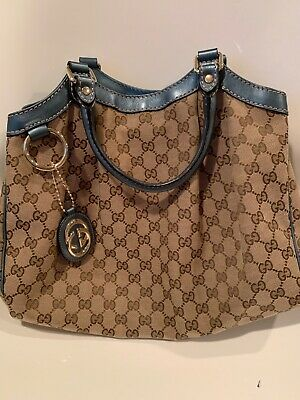 c1746ce8 AUTHENTIC NWT GUCCI GG Marmont Leather Chain Crossbody Bag Blue 2600 ...