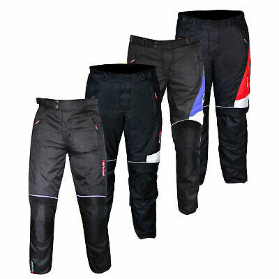Motorbike Motorcycle Waterproof Cordura Textile Trousers Pants Approved Armours