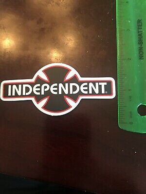 INDEPENDENT TRUCK COMPANY Skateboard Sticker FOIL CROSS red