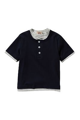 AMERICAN THREADS NEW Blue Boy's Size 2T Striped Two-Fer Henley Shirt $39 612