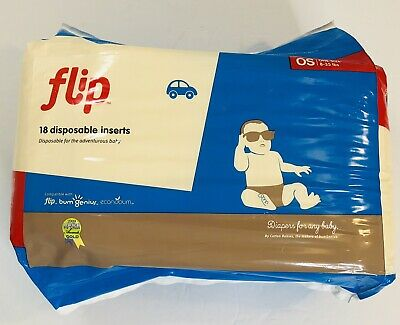 Flip 18 count disposable inserts One size 8-35 lbs