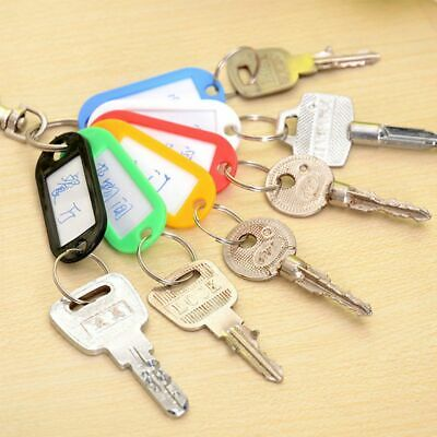 10Pcs Luggage Tags Suitcase Baggage Travel ID Tag with Key Ring Address Label