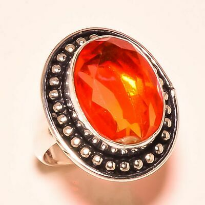 """Faceted Multi Tourmaline Gemstone .925 Sterling Silver Ring """"6.5"""""""