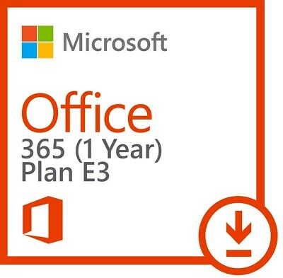 Microsoft Office 365 E3 2019 | Official Key | 5 PC/Mac | 5 Mob | 5 tb | 1 Year
