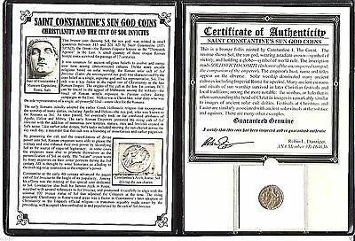 Constantine the Great Sun God Coin with Album,Certificate And Story