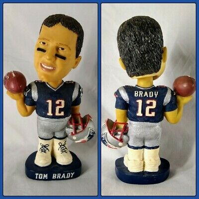 Very Rare Tom Brady Mbna Promotional Bobblehead 2002 New England Patriots Goat