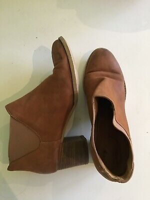 Midas Brown/Tan Leather Heeled Boots Size EU 39 US 7/7.5