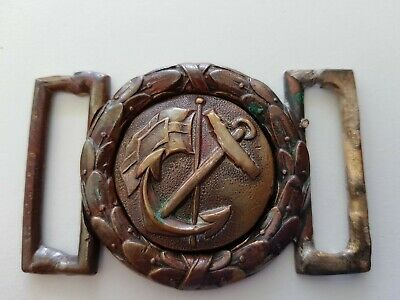 Early 1900's brass Navy belt buckle