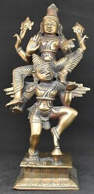 Indian brass Vishnu on Garuda statue 9.5 inches high