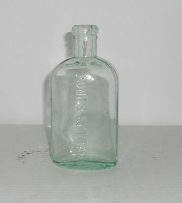 "Medicine Apothecary Blue Glass Bottle 5 1/2"" 1846 Pond's Extract"