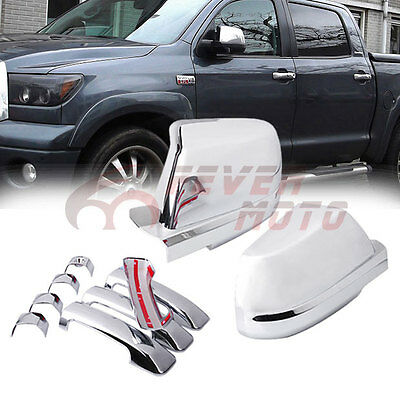 Car Chrome Side Door Handle Cover Trims For Toyota Tundra Double Cab 2007-16 FM