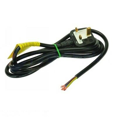 Black Moulded 13Amp Plug With 2M Straight Lead 102049