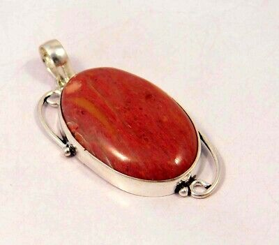 Pink Calcite .925 Silver Plated Handmade Pendant Jewelry JC6102