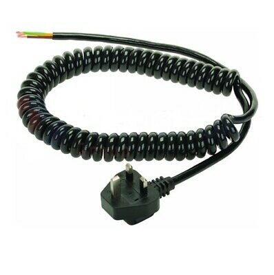Black Moulded 13Amp Plug With 1.5M Coiled Lead 102048