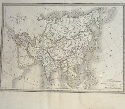 Asia Empire China circa 1820 Engraved Thierry 60x43cm Map Asia