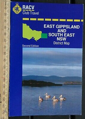 1 x RACV EAST GIPPSLAND VICTORIA & SOUTH EAST NSW DISTRICT MAP 2nd EDITION