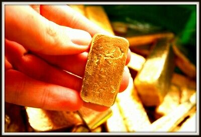 245 grams Scrap gold bar for Gold Recovery, melted different computer pins