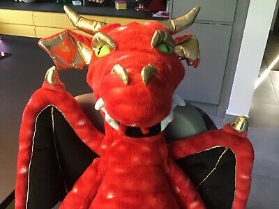 Enchanted Red Dragon Hand Puppet by the Puppet Company. Includes 2 rods and bag