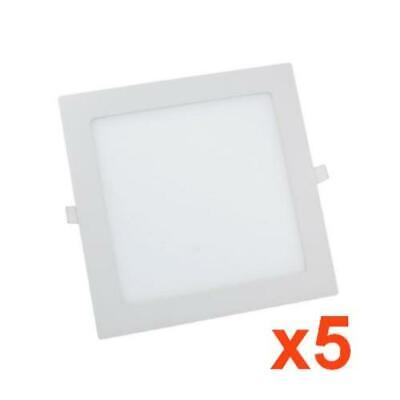 Downlight Dalle LED Extra Plate Carré BLANC 24W (Pack de 5) - Blanc Froid 6000K