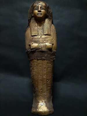 ANCIENT EGYPTIAN ANTIQUES Ushabti Shabti With Hieroglyphics Egypt Stone BC