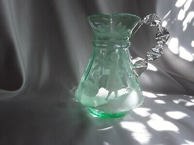 Glass Mary Gregory Pitcher