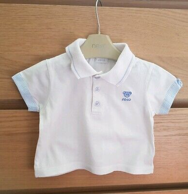Baby Original COCO Collection Boys t-shirt . White Baby Top. Size 6-12 Months
