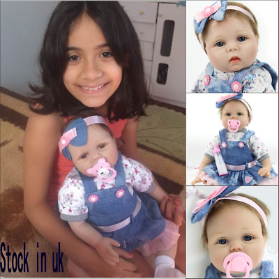 """Personalized 16"""" Reborn Dolls Soft Silicone Vinyl Handmade Real Life Baby Gifts"""