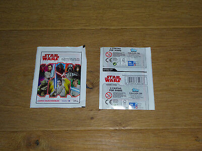 NEUF Lot 2 pochettes surprise 6 cartes Star Wars TOPPS