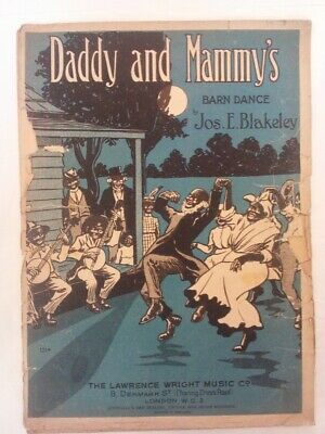 Vintage Original 1920s? Piano Sheet Music Song Book - DADDY & MAMMYS BARN DANCE