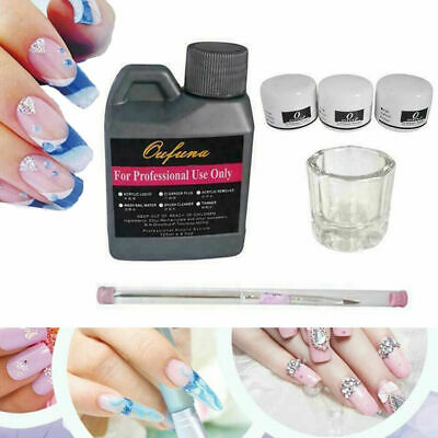 Portable Nail Art Kits Set Acrylic Liquid Powder Pen Dappen Dish Manicure Tool