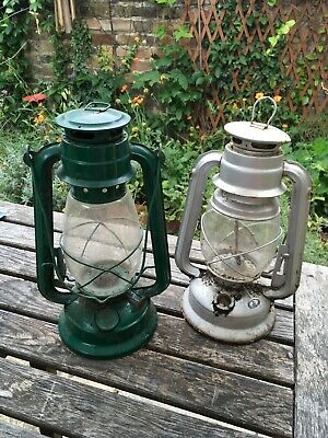 "2 X Antique/vintage Hambledown 12"" paraffin lanterns"
