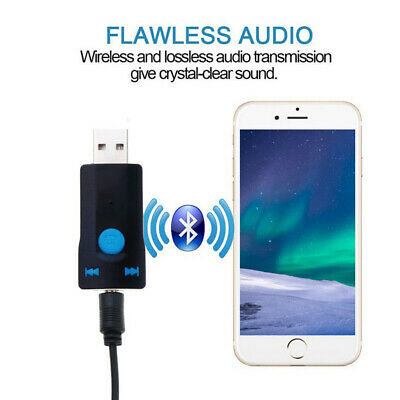 USB Wireless Adapter Bluetooth 5.0 Audio Stereo Receiver with mic for PC Car qw