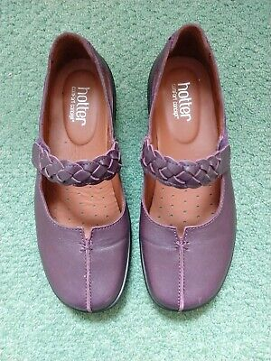 Ladies Hotter Size 5 Aubergine  Leather Comfort Shoes- Worn Once