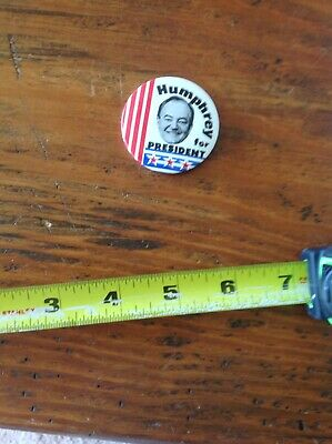Humphrey For President Political Pin
