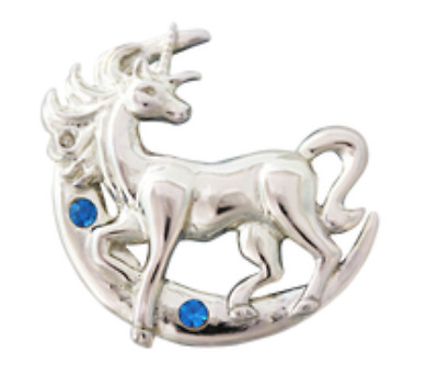 Lunar Unicorn Pendant Necklace, Anne Stokes Jewellery, 925 Silver Mythical Moon